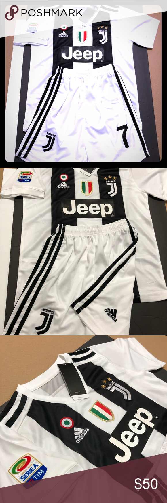 brand new 1a140 94965 UKSoccershop 2018-19 Juventus Home Mini Kit /(Ronaldo 7/)