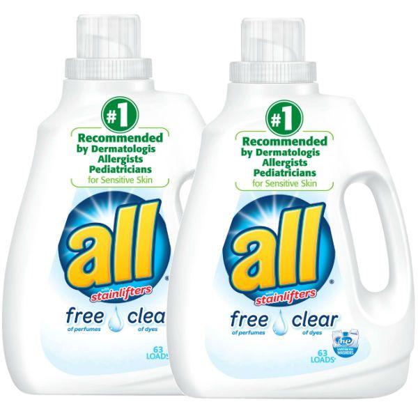 En Target puedes conseguir los detergentes All Liquido de 94.5 oz a $6.99 en especial. Compra (2) y utiliza (1) cupón de manufacturero de ...