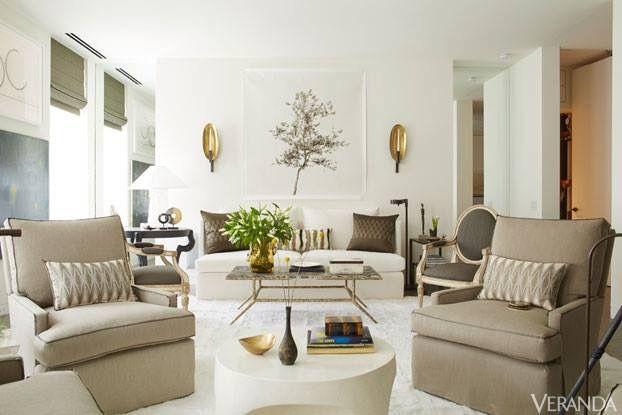 Salon beige taupe doré en 2019   Décoration intérieure ...