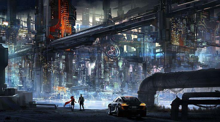 Hoods Cyberpunk Futuristic Cities Concept Art Future Cities Scifi Red Riding Hoods Industrial Design Citysc Cyberpunk City Futuristic City Cyberpunk Art