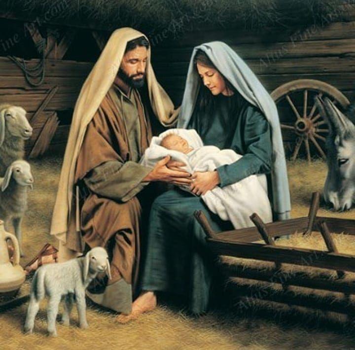 Картинка мария и иисус рождество