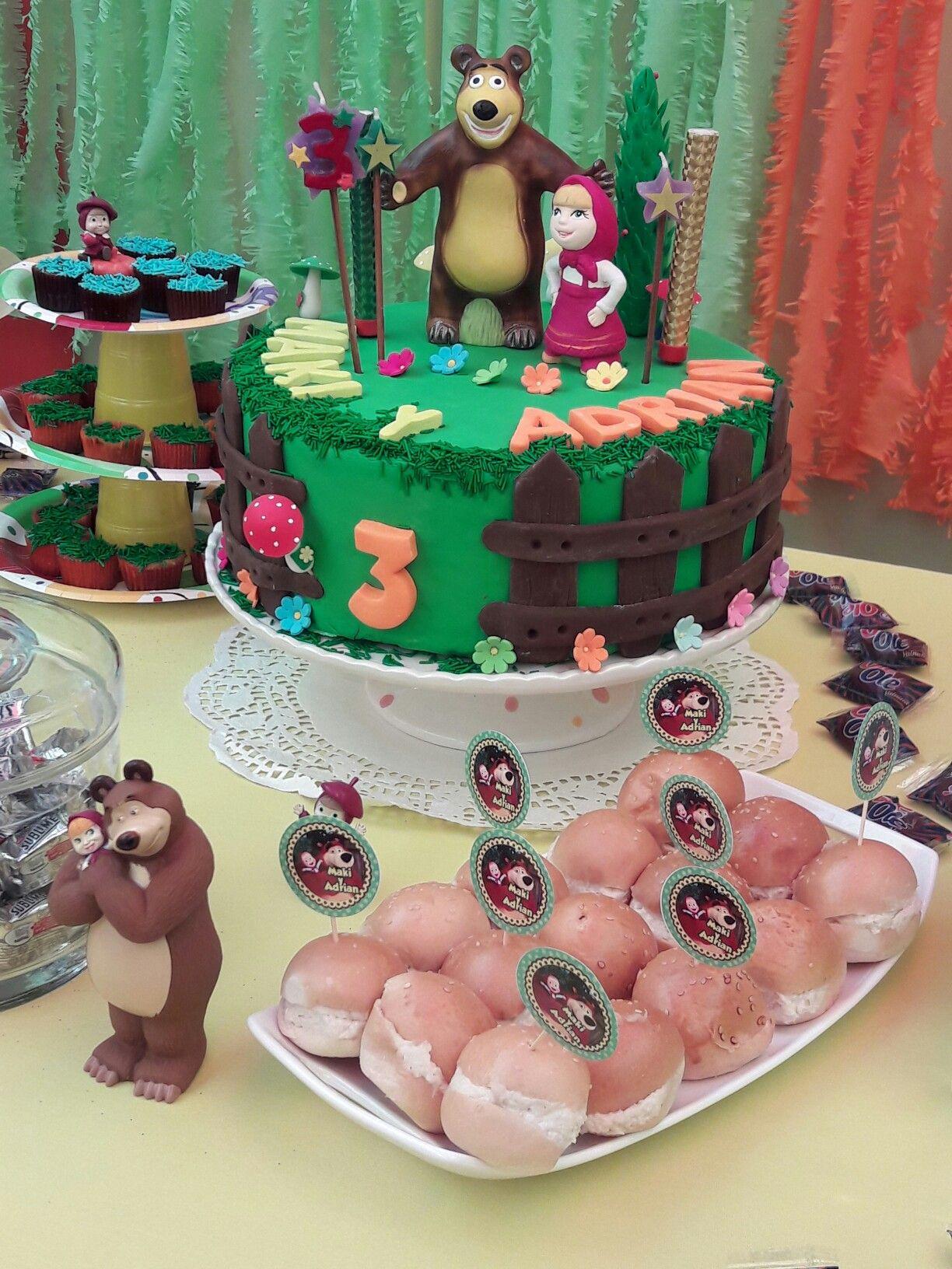 Decoracion fiesta masha y el oso cumplea os infantiles - Decoracion cumpleanos infantiles ...