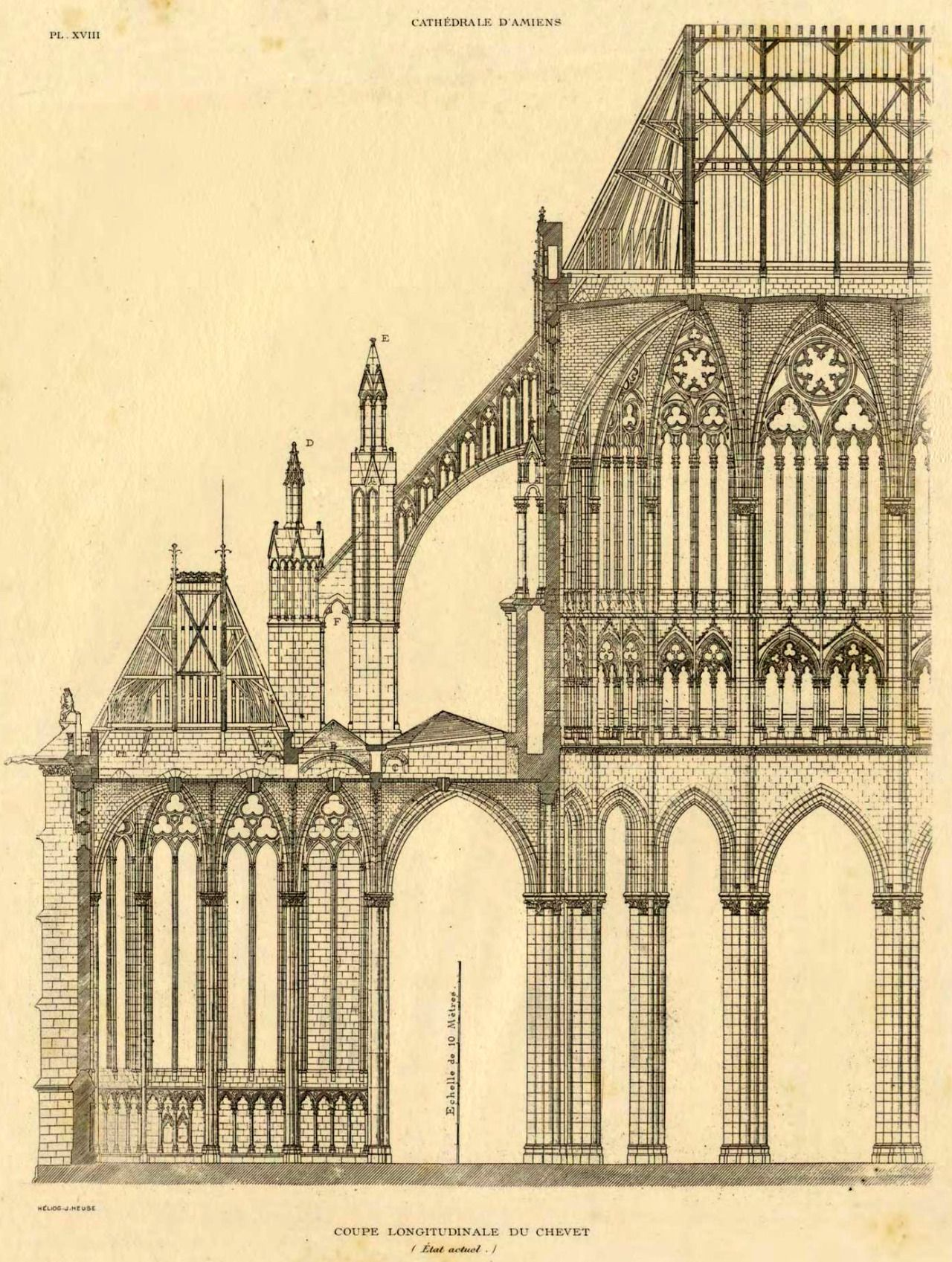 Partial section of the Cathedral, Amiens | Gothic | Pinterest ...