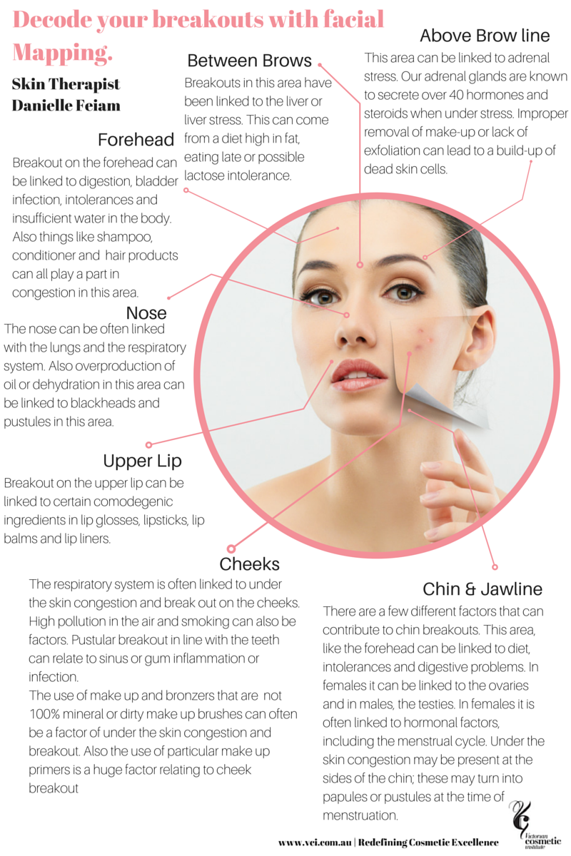 Decode Your Breakouts Using Chinese Facial Mapping Forehead Acne