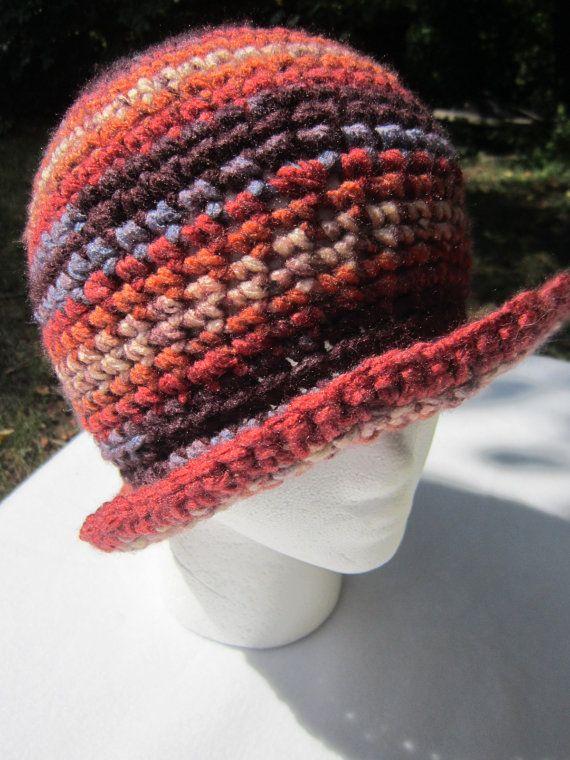 Crochet Hat Beanie with Rim by crochetedbycharlene on Etsy, $22.00 ...