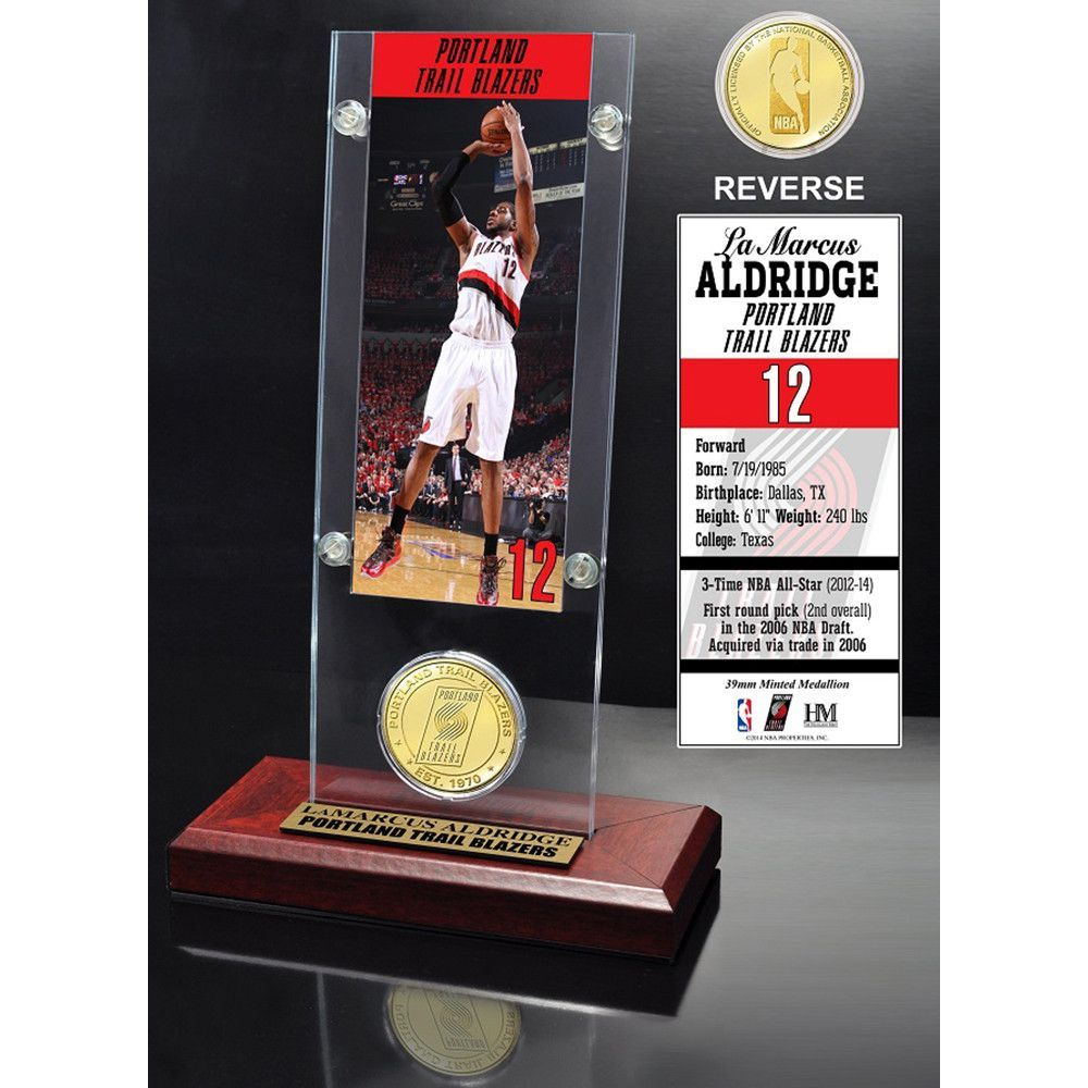 Lemarcus Aldridge Ticket Bronze Coin Acrylic Desk Top Bronze Coin Joakim Noah Demaryius Thomas