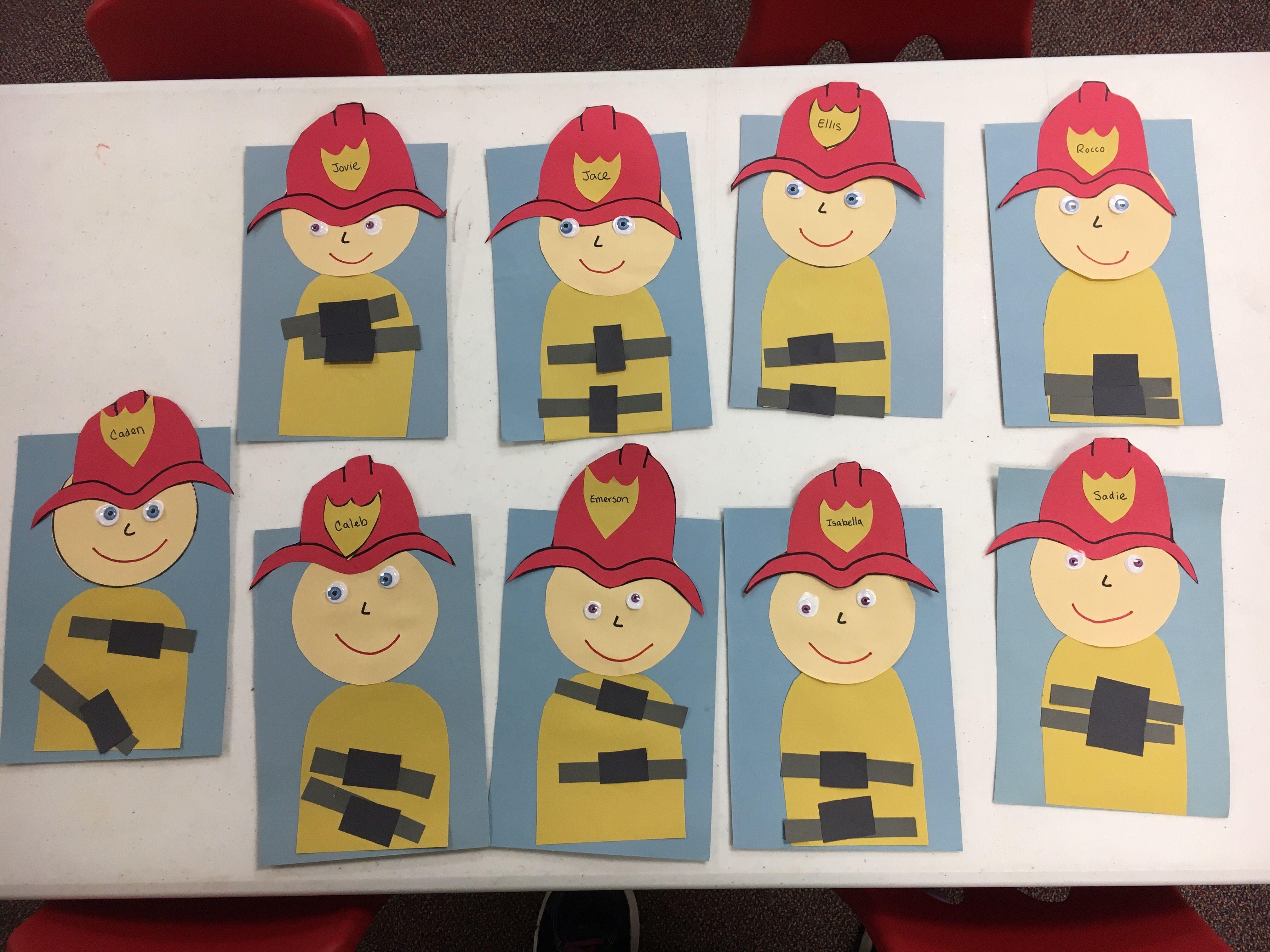 Preschool Fireman Craft