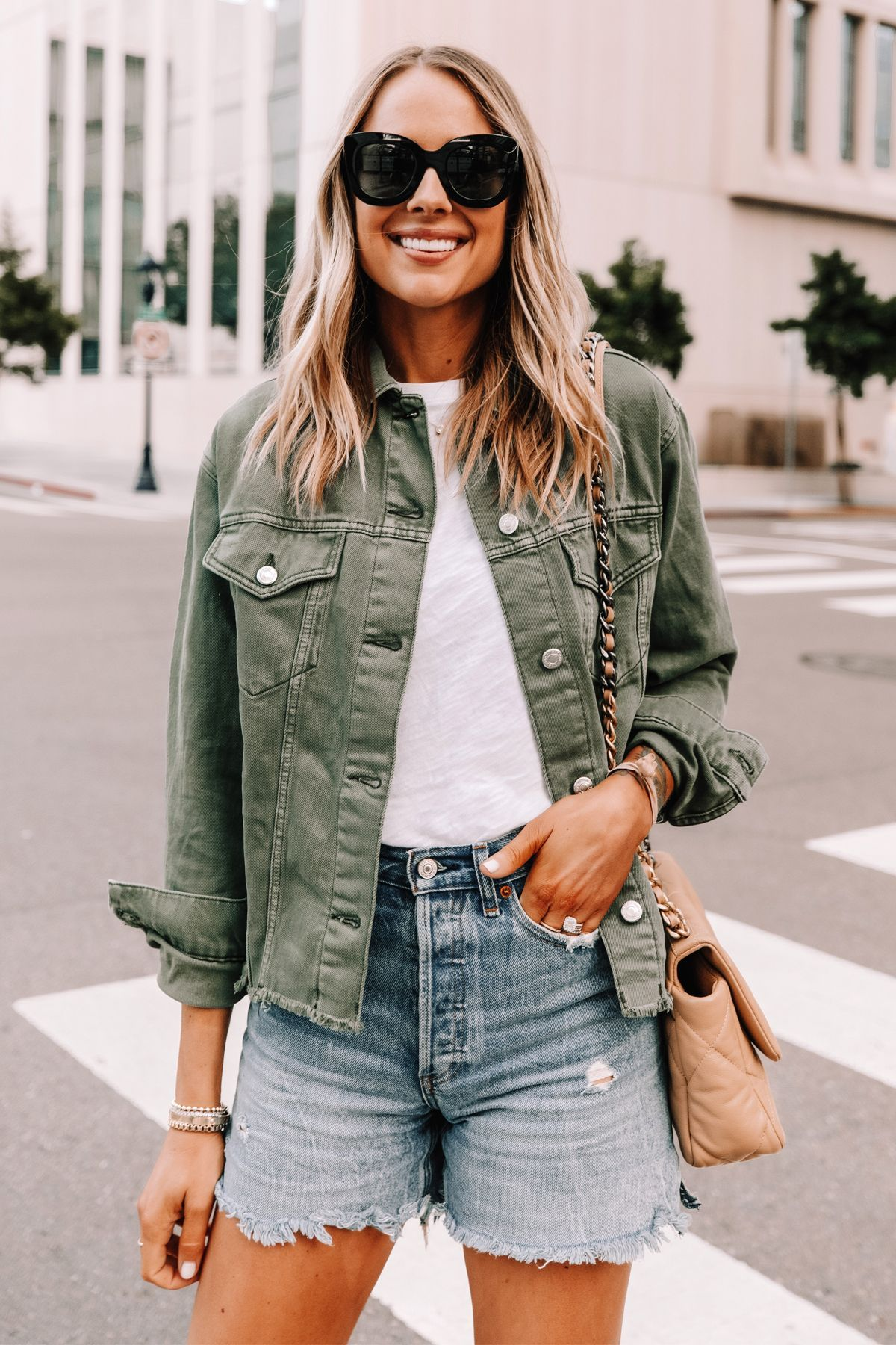 Golden Goose S New Private Edition Super Star Sneakers Fashion Jackson Green Denim Jacket Women Green Denim Jacket Denim Jacket Outfit [ 1800 x 1200 Pixel ]