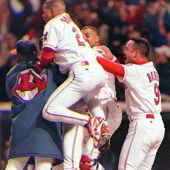 1995 World Series Game 3 Cleveland Indians Baseball First World Series Cleveland Indians