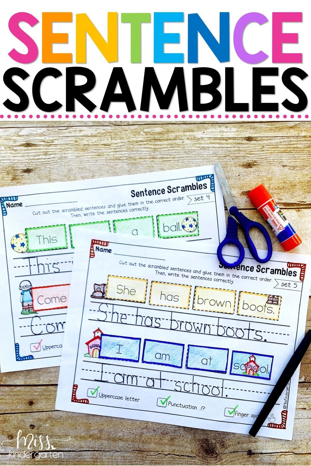 These Sight Word Sentence Scramble Worksheets Are Great