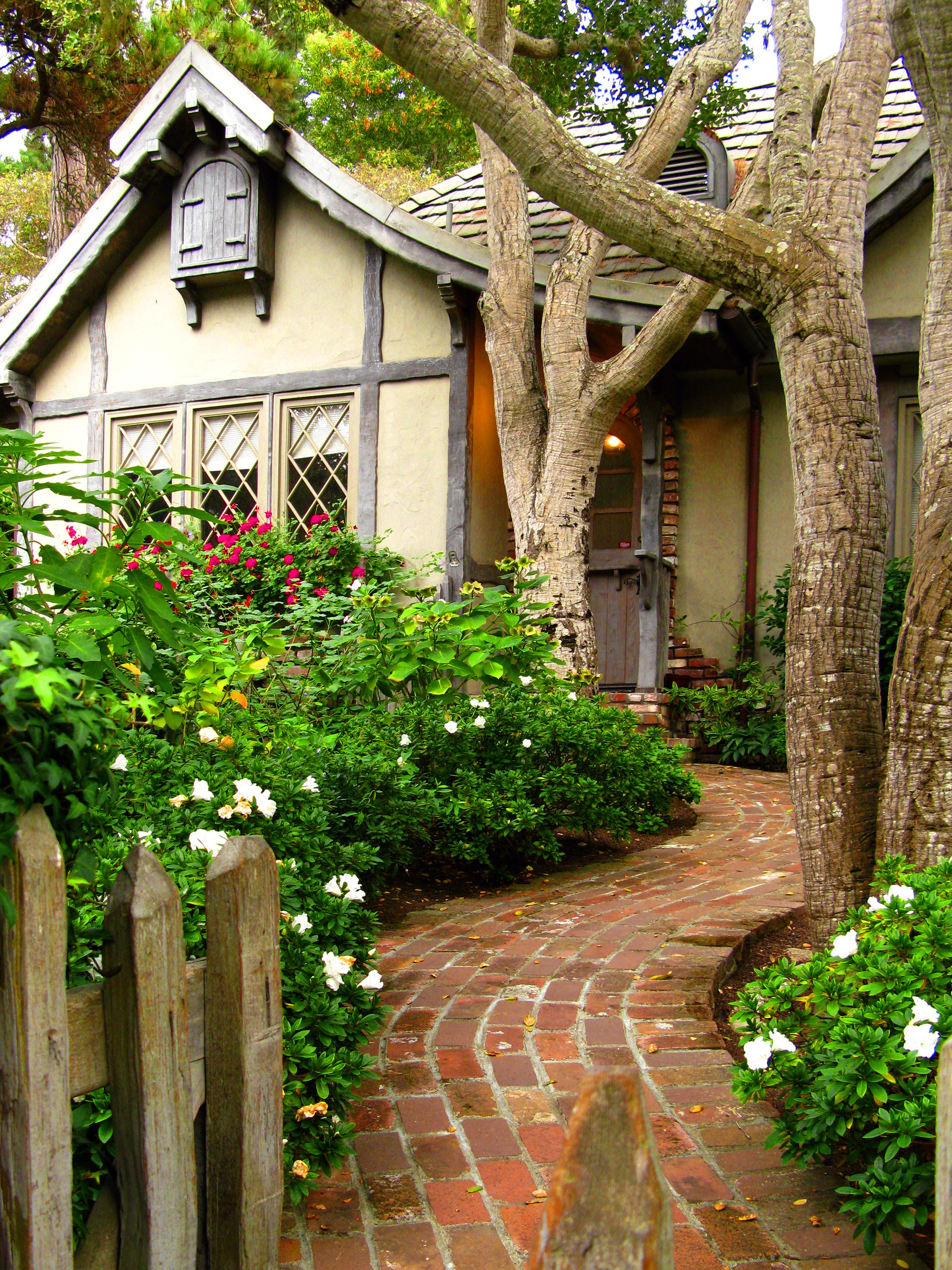 cottage carmel by the sea california cottage life cozy and love the winding brick path and storybook tudor style house of dreams cottage carmel california