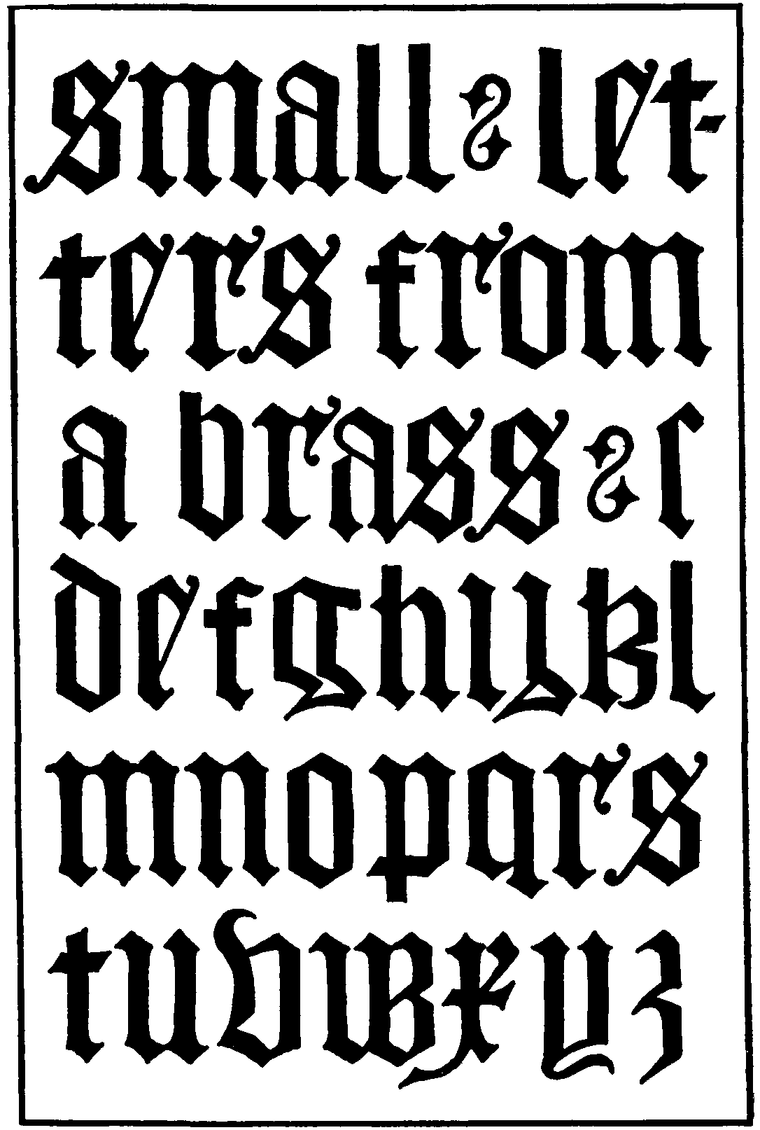 Frank Chouteau Brown 15th century. English gothic blackletter ...
