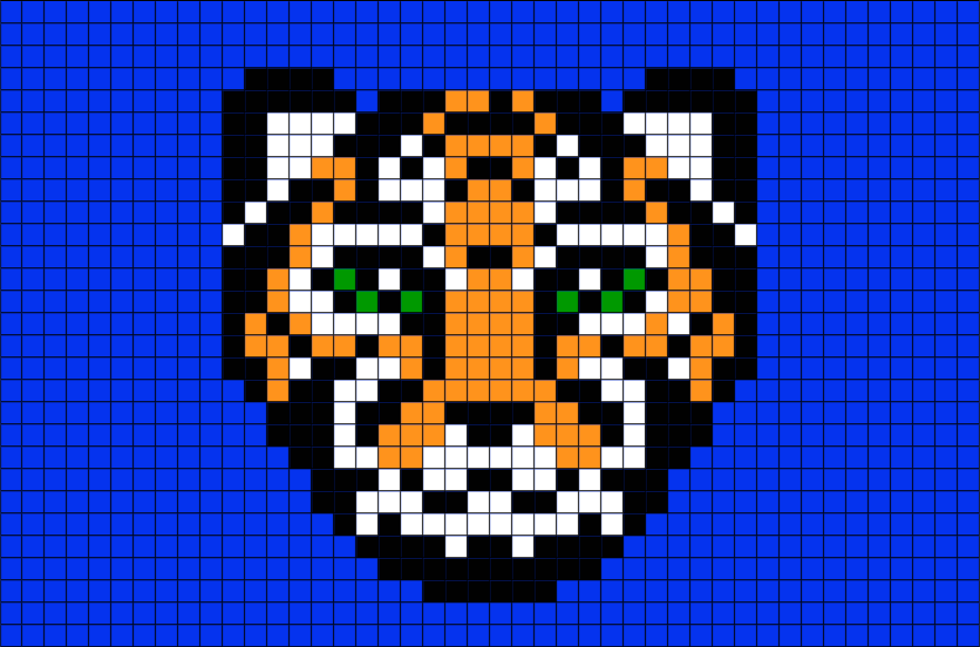 Tiger Pixel Art In 2019 Pixel Art Art Cat Species