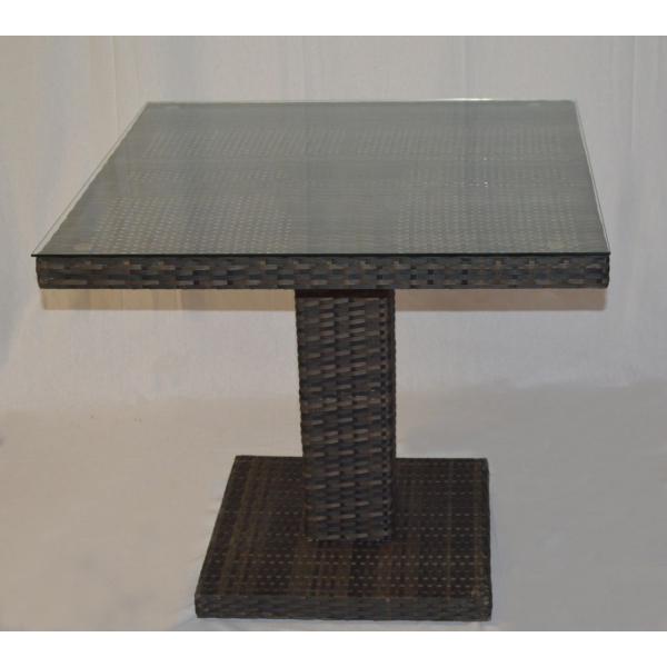 Tavoli da terrazza modello toledo quadrati intrecciati a for 2 piedi quadrati per garage