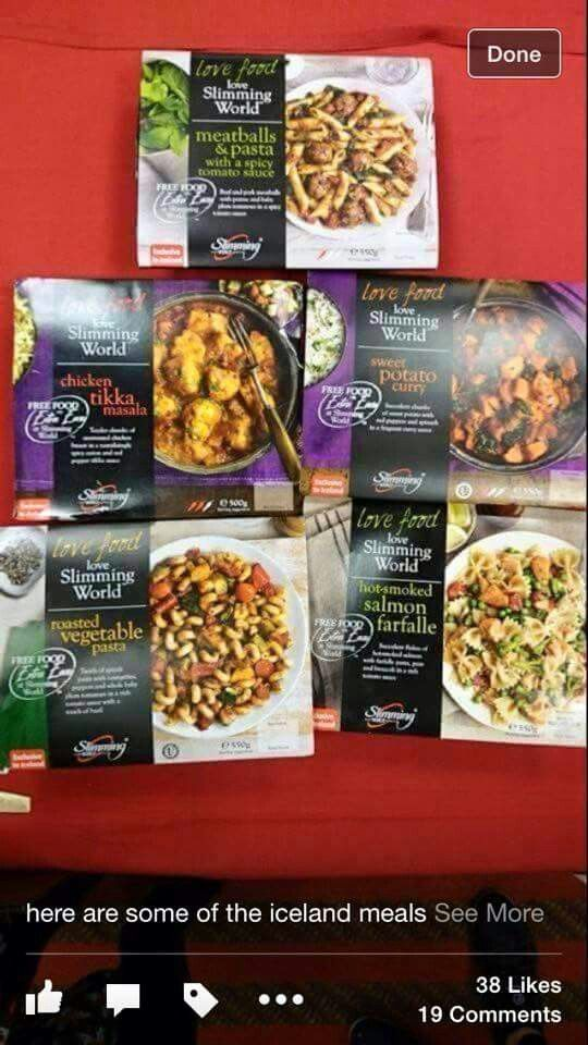 New Slimming World Meals At Iceland Sw Main Pinterest