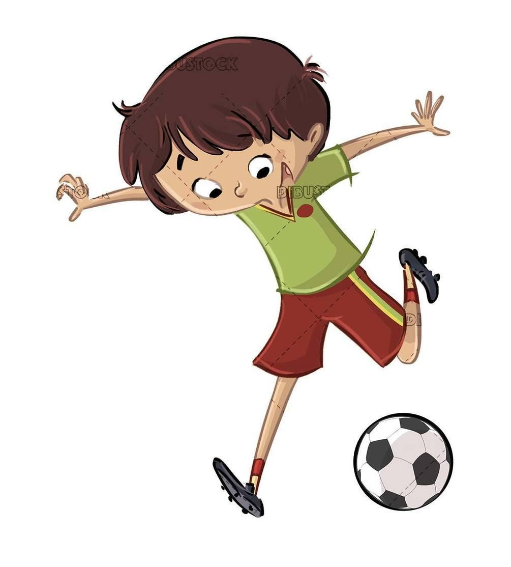 Kid About To Kick A Soccer Ball In 2020 Soccer Ball Soccer Illustration