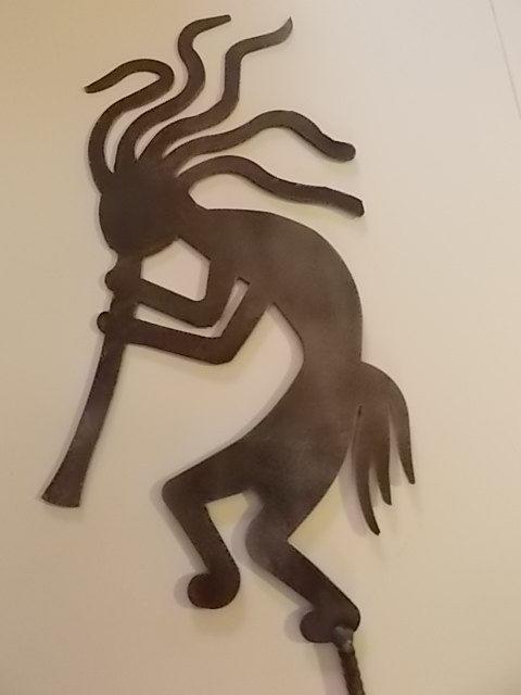 Kokopelli Metal Yard Art On Etsy 40 00 Garden Tiki