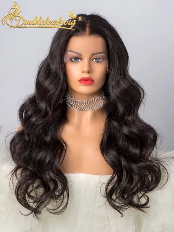 Doubleleafwig Brazilian Virgin Hair Body Wave 360 Lace Wig With Transparent Dream Swiss Lace D22 #lacewigs