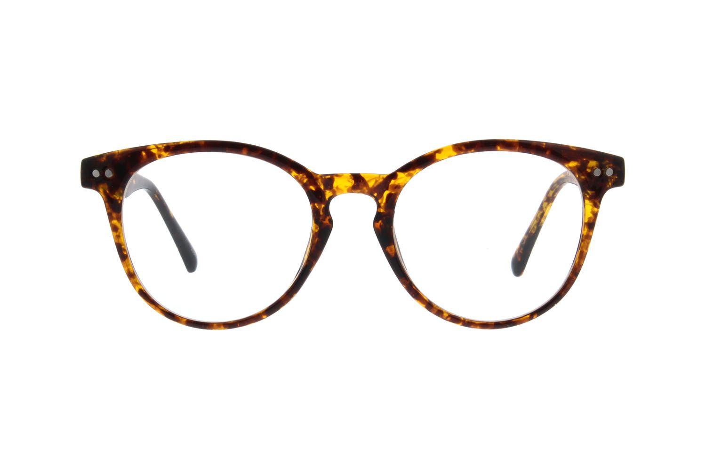 696ac76b0d Zenni Round Prescription Eyeglasses Tortoiseshell TR 208425 ...