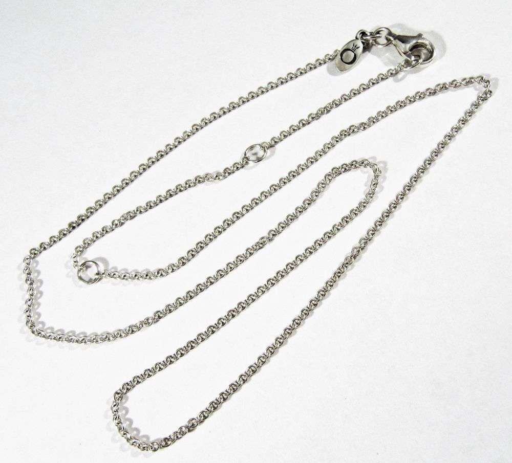 d28f14db77107 AUTHENTIC PANDORA ALE 925 STERLING SILVER CHAIN NECKLACE 17.75