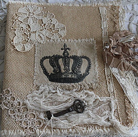 Fabric collage art journal...