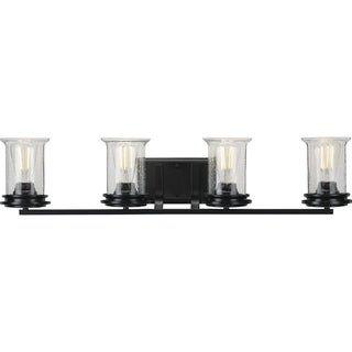Photo of Winslett Collection Black Four-Light Bath (60 W – 4 Lights), Progress Lighting