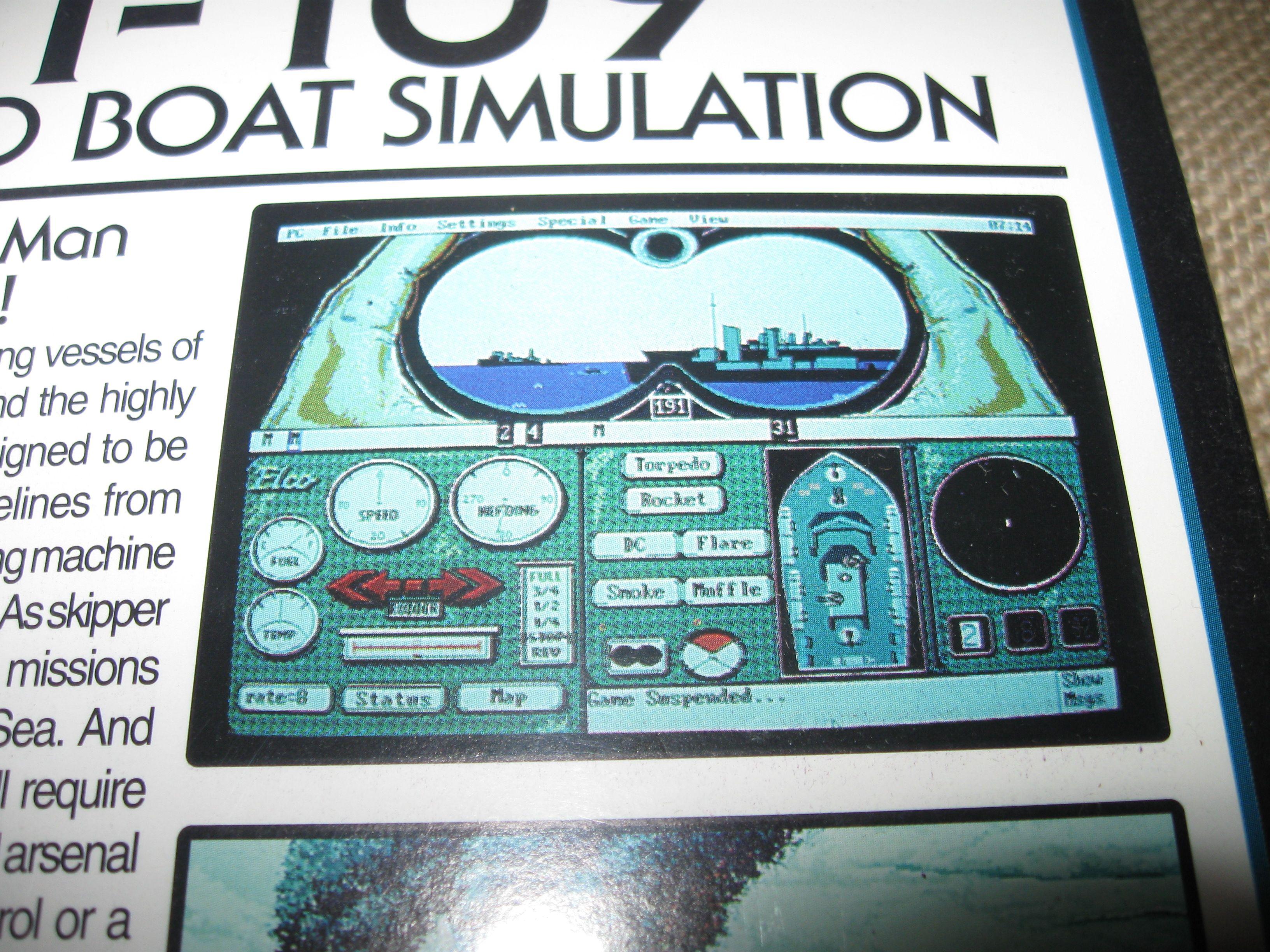 """PT 109 Torpedo Boat Simulation 1992 Wizardworks 3.5"""" Disk"""