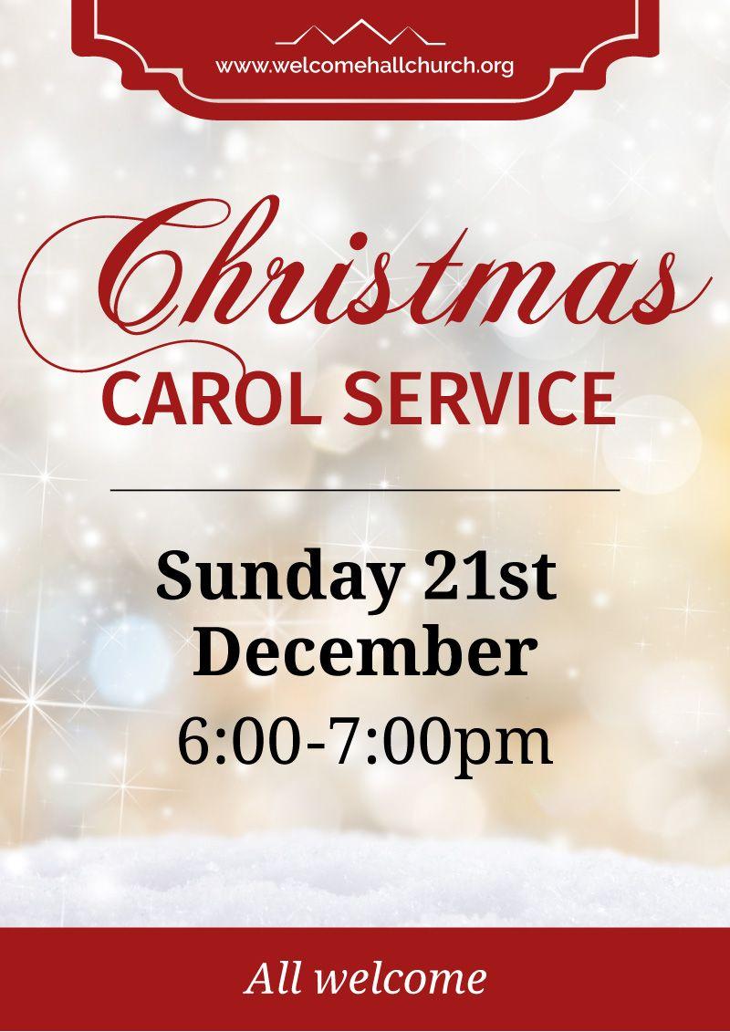 Christmas Carol Service Large Format Event Poster Event Poster Christmas Service Christmas Carol