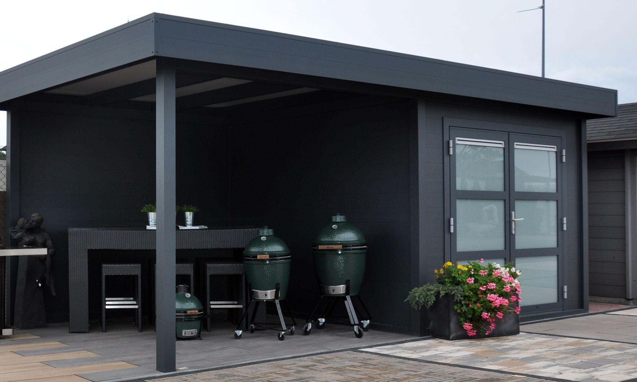 Modernes Flachdach Gartenhaus aus Aluminium mit