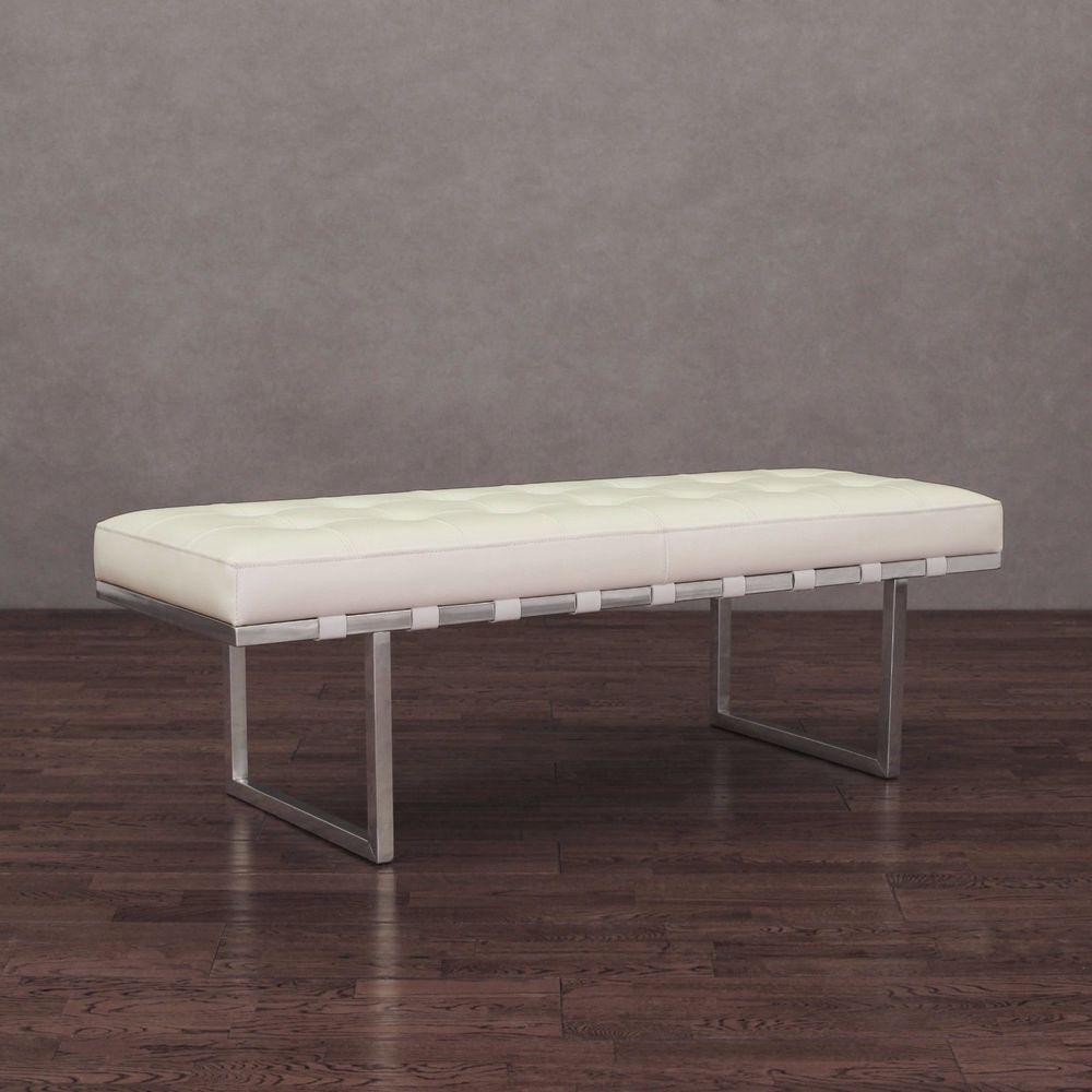 Miraculous Leather Bench Furniture White Entryway Seat Upholstered Inzonedesignstudio Interior Chair Design Inzonedesignstudiocom