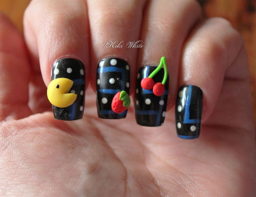 Retro Games - Nail Art Gallery | Projects to Try | Pinterest | Retro ...