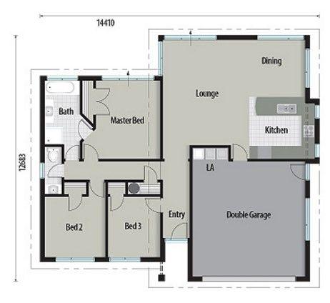 Plano de casa de 160 metros cuadrados con techos a for Piso 60 metros cuadrados 3 habitaciones