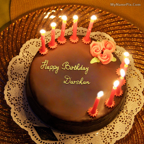 The Name Darshan Is Generated On Birthday Cake For