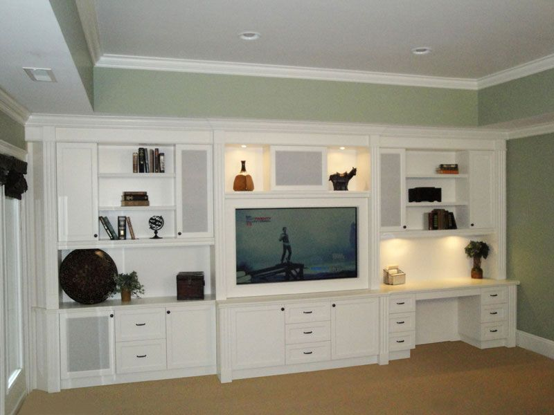 Built In Entertainment Centers Built In Desk Shelves And