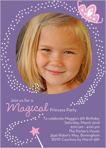 Magical princess birthday invitation shutterfly party for magical princess birthday invitation shutterfly filmwisefo