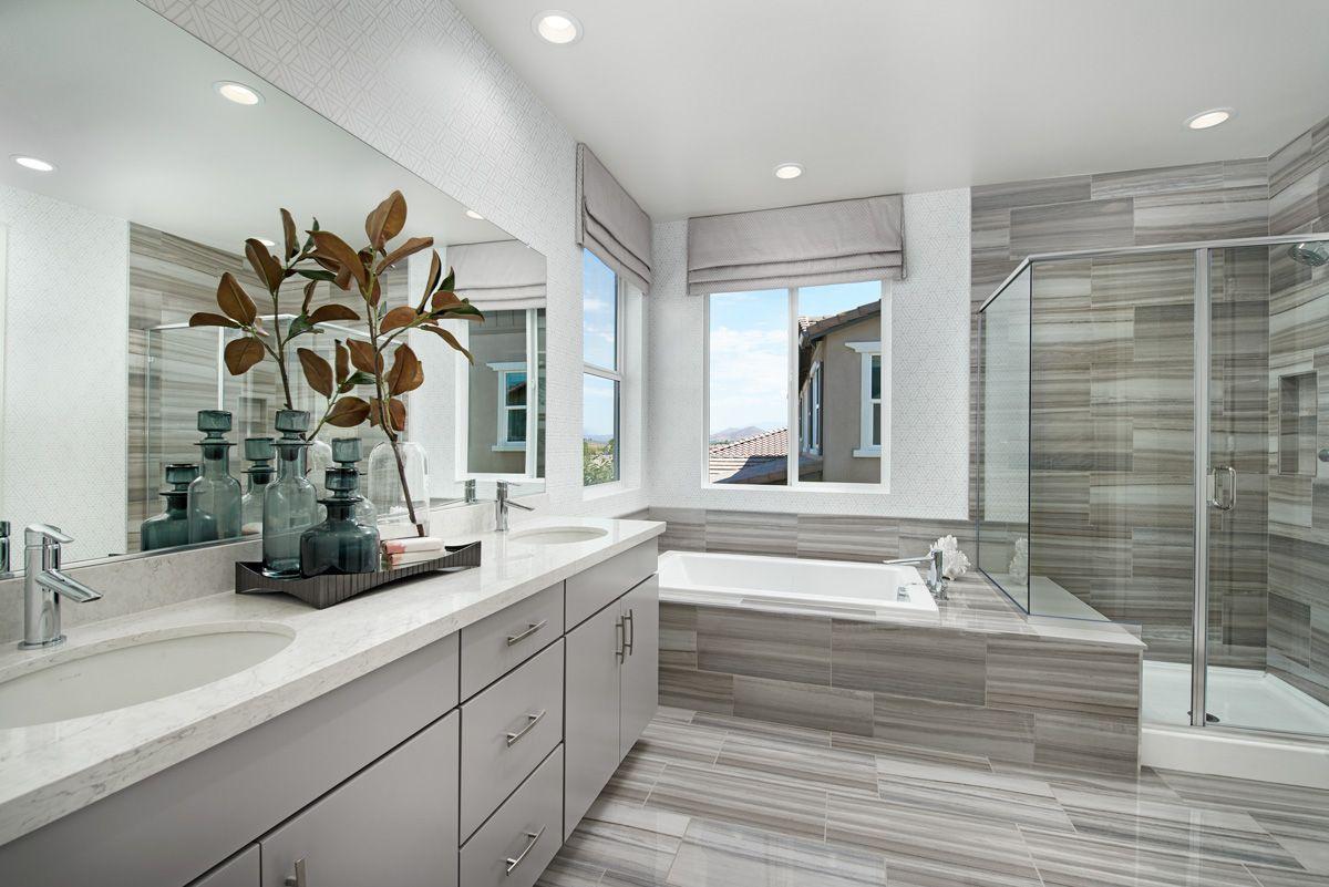 Teagan Model Home Master Bath Menifee California In 2020 Master Bath Layout Richmond Homes Richmond American Homes