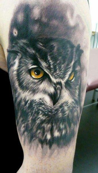 #inked #owl #blackandwhite #tattoo #tatuagem #alineymarques