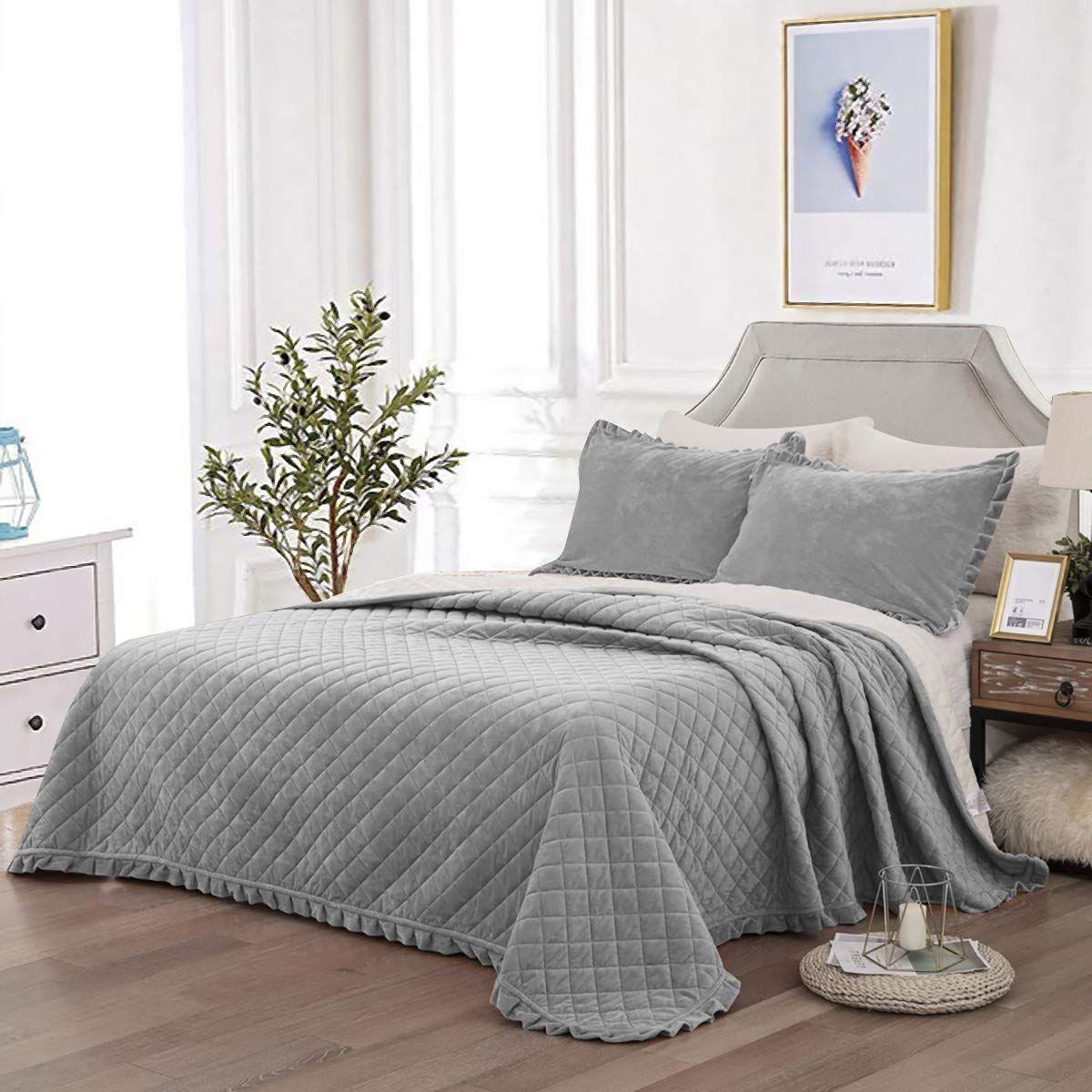 Wongs Bedding Tagesdecke Bettüberwurf 220x240 Cm Steppdecke Doppelbett Gesteppt Mikrofaser Bettdecke Stepp Decke Tagesdecke Bettüberwurf Tagesdecke Bett Ideen