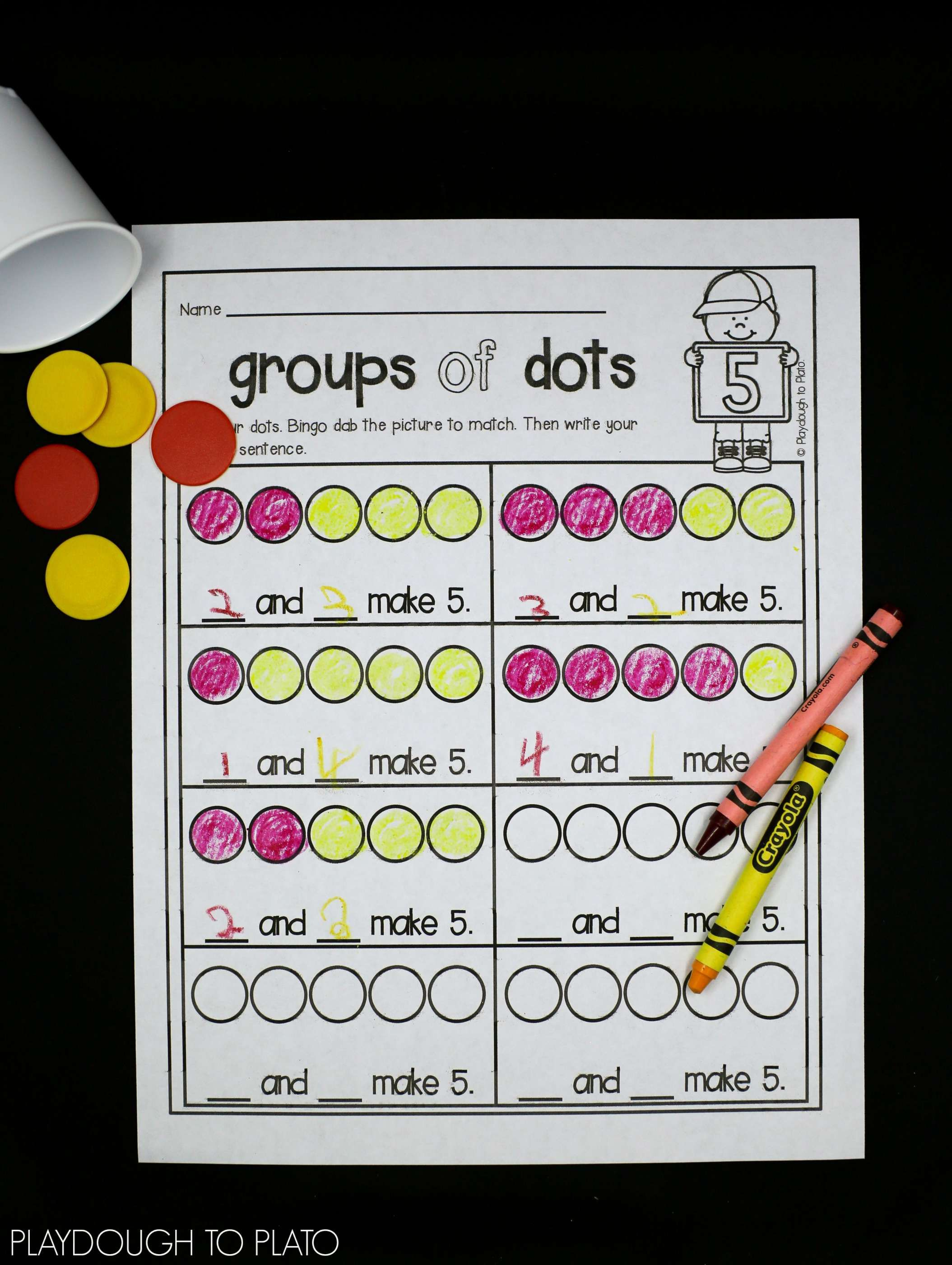 12 Decompose 6 Kindergarten Worksheet