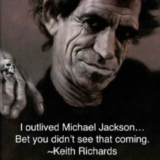 I just don't know what to say about this. Keith richards