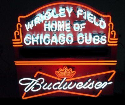 7b977b1446e ... World Series Wrigley Feild Cubbies  half off Wrigley Field Home of the  Chicago Cubs + Budweiser - neon signs 26f0b cd513 ...