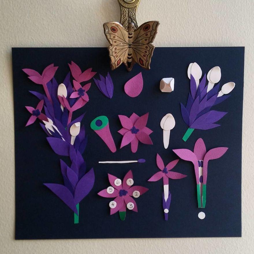 Paper Cut Botanical Studies Niege Borges Art Artwork Craft Design