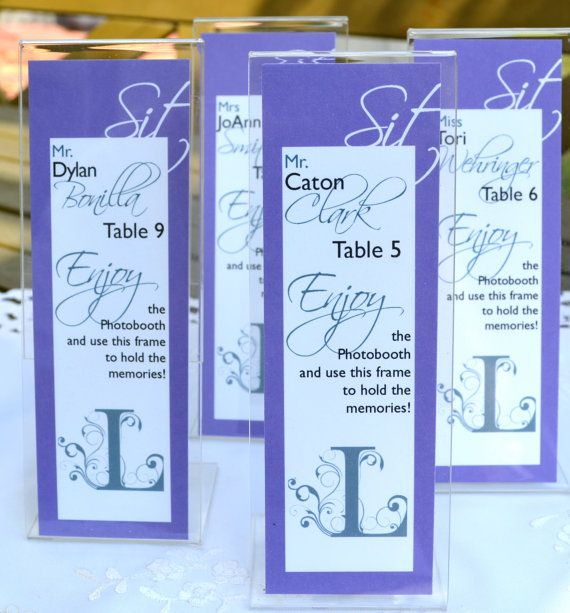 Personalized Escort Cards for Photo Booth Frames Wedding Place Cards ...