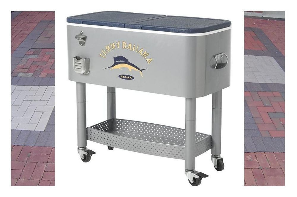Beverage Cooler Patio Party Coolers Cart Stand Beverages Wheeled Deck  Portable #TommyBahama