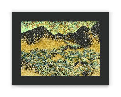 James Eads Sands of the Shimmering Sea Print Release... #Arsetculture #Inside_the_Rock_Poster_Frame #Gig_Posters