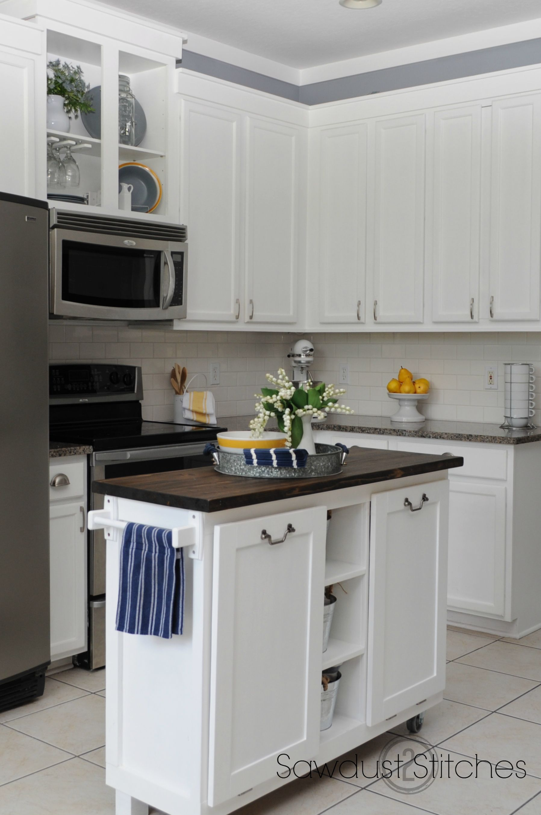 Corey Sawdust2stitches White Painted Kitchen Cabinets Review After