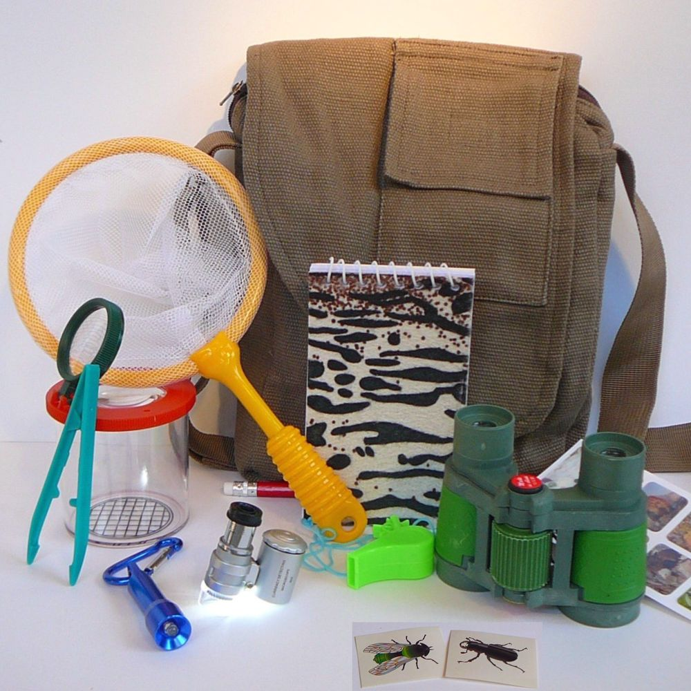 Lizard Toys For Boys : Age magnifying bug catcher kit microscope bag insect