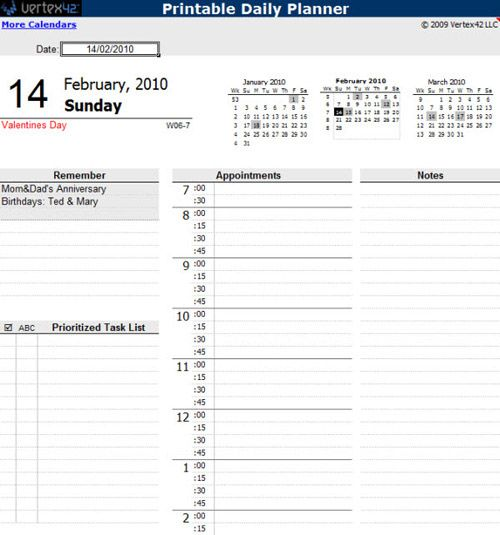 daily calendar templates PTDbTWtu providehealth Pinterest - calendar templates in word