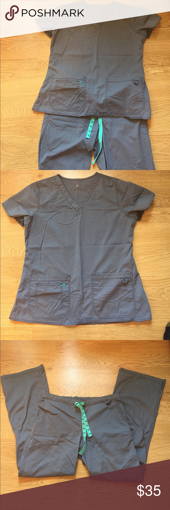 MC2 scrubs top Sz L.  Bottoms sz M MC2 grey scrubs top sz L.  Bottoms sz M reg.  Good condition!! MC2 Other