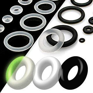10pc Rubber O Ring Package Size 1 2 Black Wickedbodyjewelz O Rings 3 99 O Ring Body Jewelry Clear Silicone